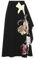 Valentino Wool Skirt With Appliqué