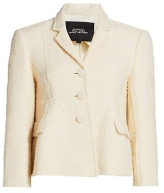 Marc Jacobs Boucle Shaped Wool-Blend Jacket