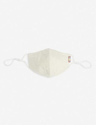 Bottletop Slogan-print organic cotton face covering