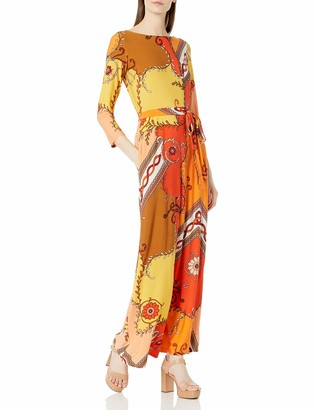 Donna Morgan Women's 3/4 Sleeve Stretch Knit Jersey Maxi Dress