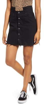 Blank NYC BLANKNYC Notch Waist Denim Miniskirt