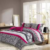 Girls Bedding Set Kids Teen Comforter Pink Black White Zebra and Damask Print with Polka Dots and Accent Pillow. Includes Bonus Zebra Print Sleep Mask From Designer Home. (Twin/twin Xl)