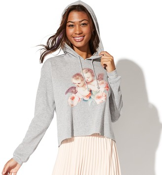 Public Library Juniors' Fleece Cropped Hoodie