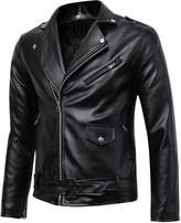 Benibos Men's Classic Police Style Faux Leather Motorcycle Jacket (XL, )