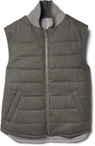Alfred Dunhill Reversible Padded Wool Gilet