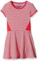 Tommy Hilfiger Girl's Resa Knit Short Sleeve Striped Dress