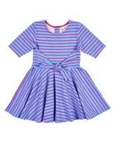 Florence Eiseman Stripe Dress w/ Waist Tie, Size 2-6X