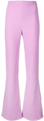 Cushnie high-waisted flared trousers