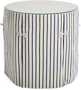 One Kings Lane Collection Eden Round Skirted Table, Navy Stripe