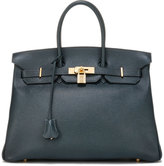 Hermes Vintage Bamboo Birkin Courchevel Satchel Bag, Blue