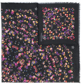 Givenchy night pansy print shawl - women - Silk/Cashmere/Virgin Wool - One Size