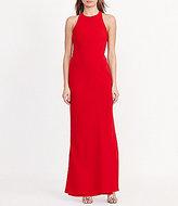 Lauren Ralph Lauren Cutout-Back Crepe Gown
