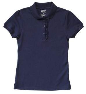 French Toast Little Girl's Short-Sleeve Ruffle Polo