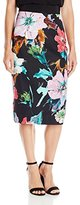 Milly Women's Paper Floral Print Midi Skirt