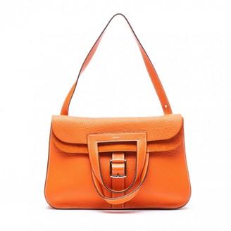 Hermes Halzan Orange Leather Handbags