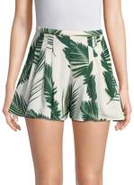 C/MEO COLLECTIVE Women's Palm Print Pleated Shorts