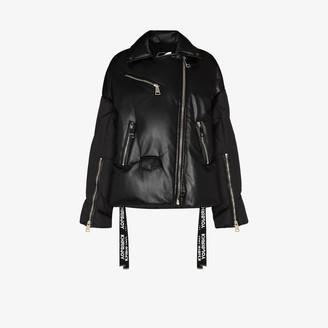 KHRISJOY Biker Puffer Jacket