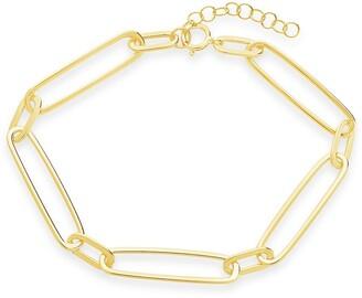 Sterling Forever 14K Gold Plated Sterling Silver Large Link Bracelet