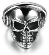 Stainless Steel Ring for Men, Music Skull Ring Gothic Band 27*25MM Size 11 Epinki