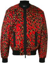 DSQUARED2 camouflage print bomber jacket - men - Polyamide/Polyurethane/Spandex/Elastane/Viscose - 46