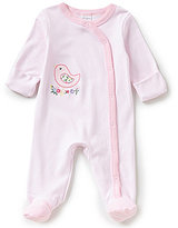 Starting Out Baby Girls Newborn-9 Months Striped Bird Coveralls