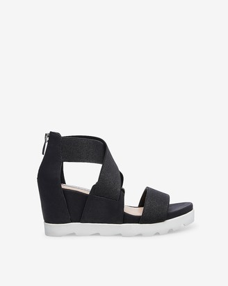 Express Steven By Steve Madden Sheli Wedge Sandals