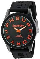 Superdry Men's 'Tokyo' Quartz Plastic and Silicone Dress Watch, Color: (Model: SYG145B)