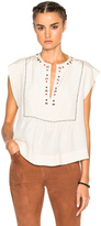 Isabel Marant Florent Eyelet Embroidery Top