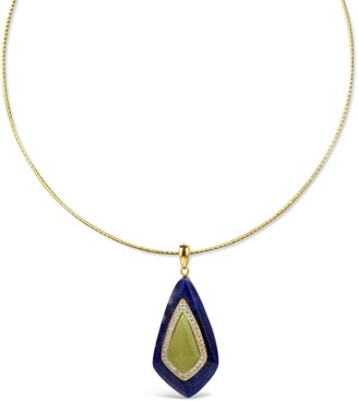 Bellus Domina Gold Plated Jade Necklace