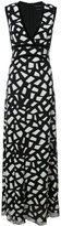 Yigal Azrouel geometric pattern gown - women - Polyester/Viscose - 8