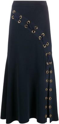 Alexander McQueen Lattice Ribbed Knit Skirt