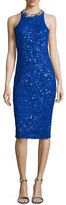 Rachel Gilbert Gidget Embellished Fitted Dress, Electric