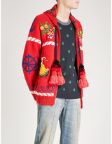 Gucci Tassel-detailed Embroidered Wool Cardigan