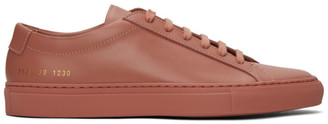 Common Projects Pink Achilles Low Sneakers