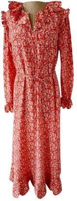Horror Vacui Red Silk Dress for Women