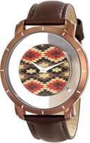 Akribos XXIV Men's AK665XBR Impeccable Swiss Quartz Navajo Floating Dial Leather Strap Watch
