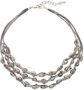 Carol Dauplaise Three-Row Accented Necklace