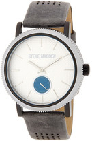 Steve Madden Women's Two-Tone Alloy Leather Strap Watch