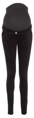 Dorothy Perkins Womens **Maternity Black 'Frankie' Super Soft Cord Skinny Jeans, Black