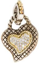 Candela Two-Tone Diamond Heart Pendant