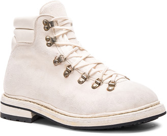 Guidi Lace Up Suede Combat Boots in White | FWRD