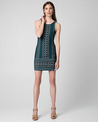 Le Château Printed Cotton Blend Tunic Dress