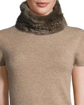 Neiman Marcus Rabbit Fur Cowl Collar, Mink Brown