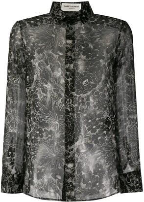 Saint Laurent Printed Chiffon Shirt