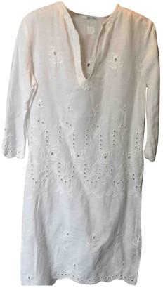 120% Lino White Linen Top for Women