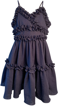 Helena Girl's Laundered Ruffle Trim Sun Dress, Size 4-6