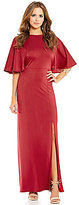 Gianni Bini Social Brenda Flutter Sleeve Maxi Dress