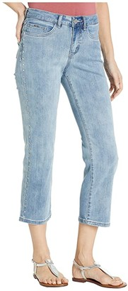 FDJ French Dressing Jeans Statement Denim Olivia Boot Crop Side Seam Rivets in Light Denim (Light Denim) Women's Jeans