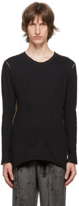 Sulvam Black Darts Long Sleeve T-Shirt