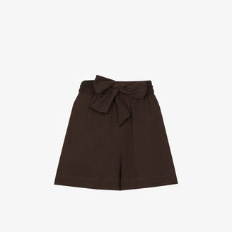 Peony Swimwear Belted Organic Cotton Shorts